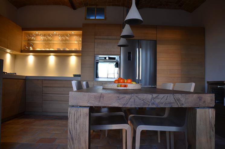 Cucine In Legno Grezzo. Stunning Legno Grezzo E Lavorato Linee ...