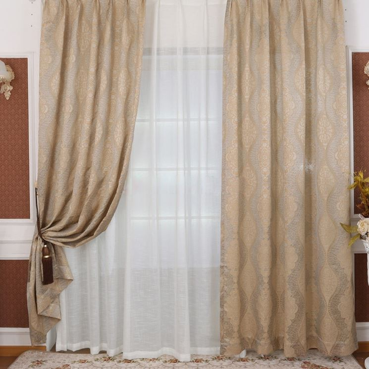 Tende country chic tendaggi per interni modelli tenda for Tende country chic