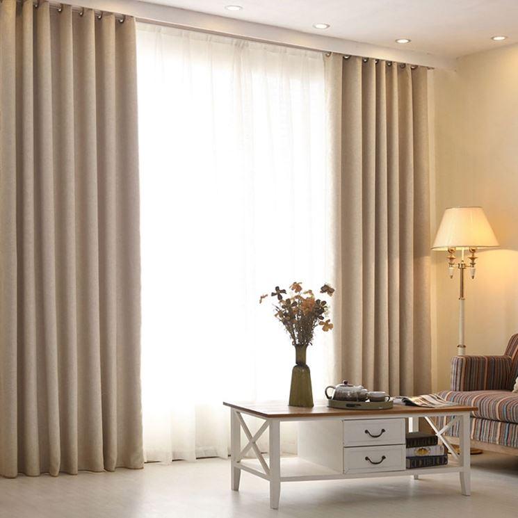 Design tende soggiorno