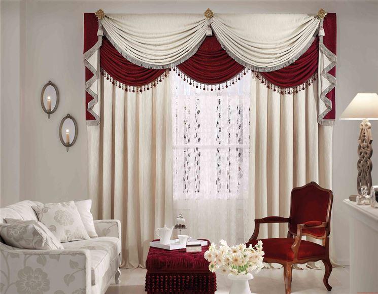 Esempio di tende per soggiorno