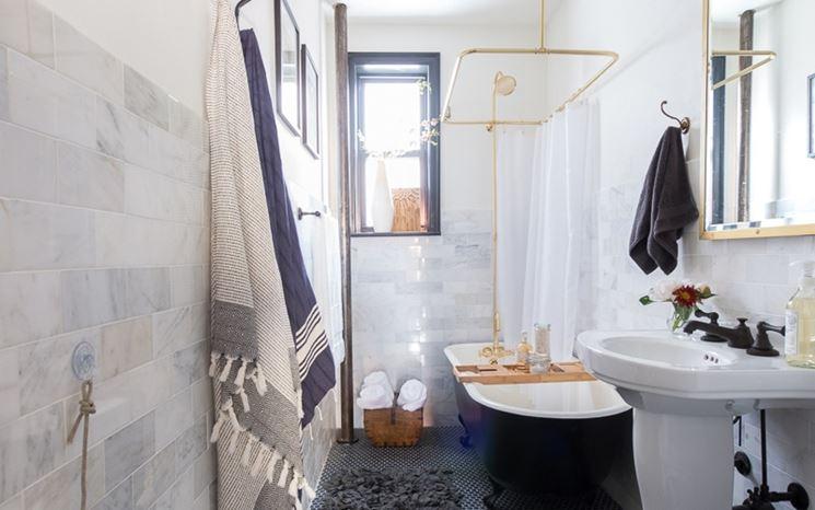 Tende per vasca da bagno tendaggi per interni - Tendaggi per bagno ...