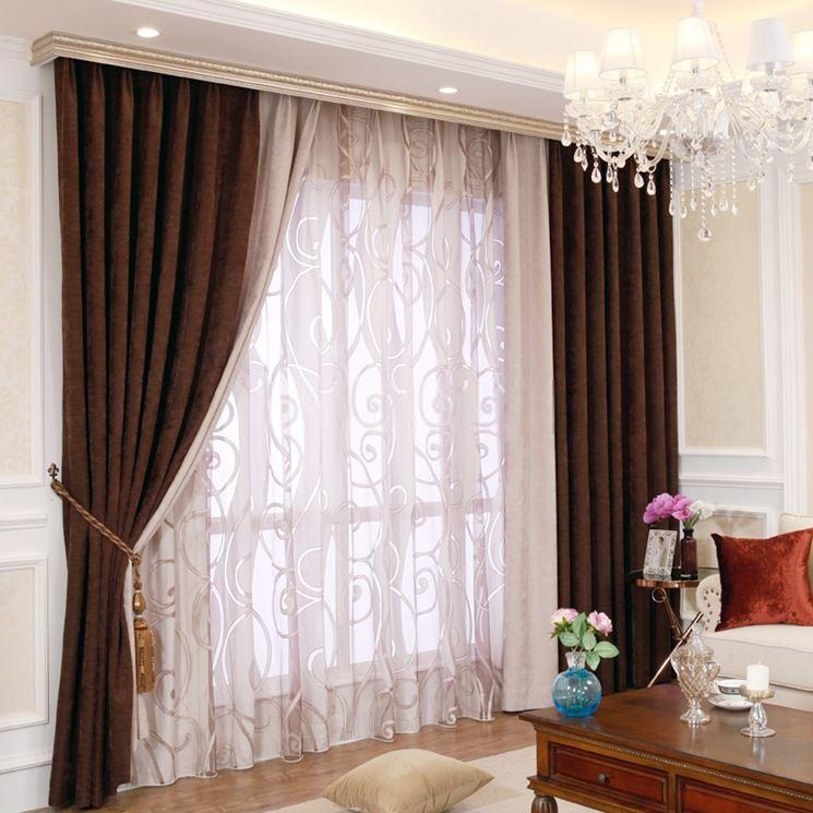 Tende soggiorno tendaggi per interni tendaggio soggiorno for Tende arredo interni