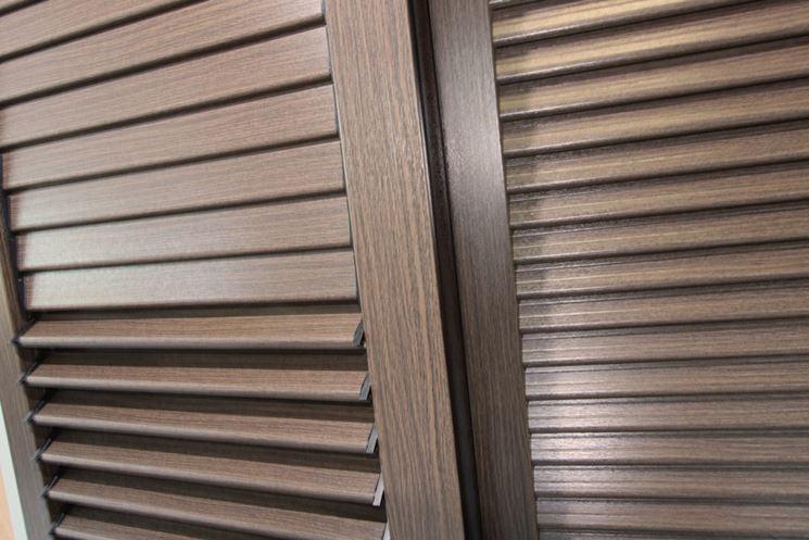 Persiane in pvc effetto legno