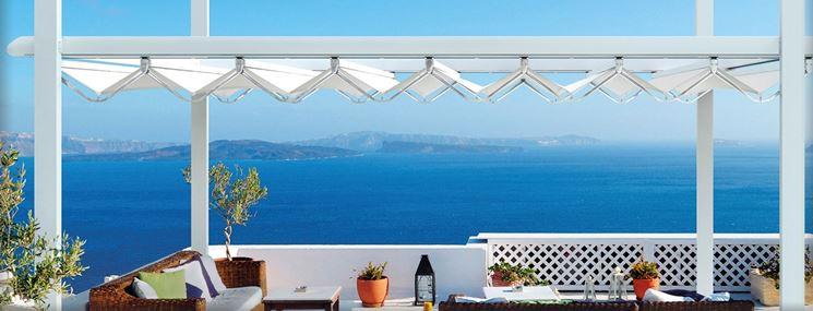 Esempio di tenda da sole per il terrazzo