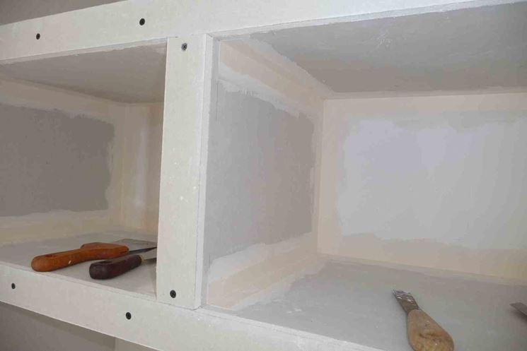 Mensole in cartongesso - Cartongesso fai da te - Installare mensole in carton...
