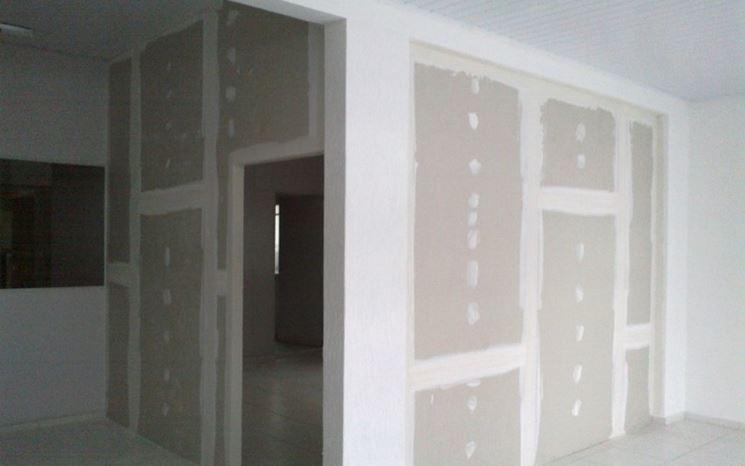 Muri di cartongesso esempio