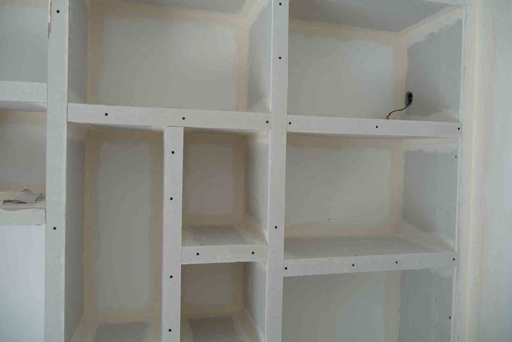 consigli per costruzione parete attrezzata in cartongesso