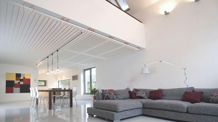 Sistema di riscaldamento a soffitto