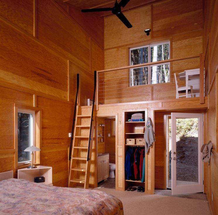 Scala per soppalco in legno