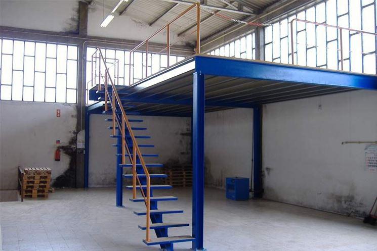 soppalco in acciaio per fabbricati industriali