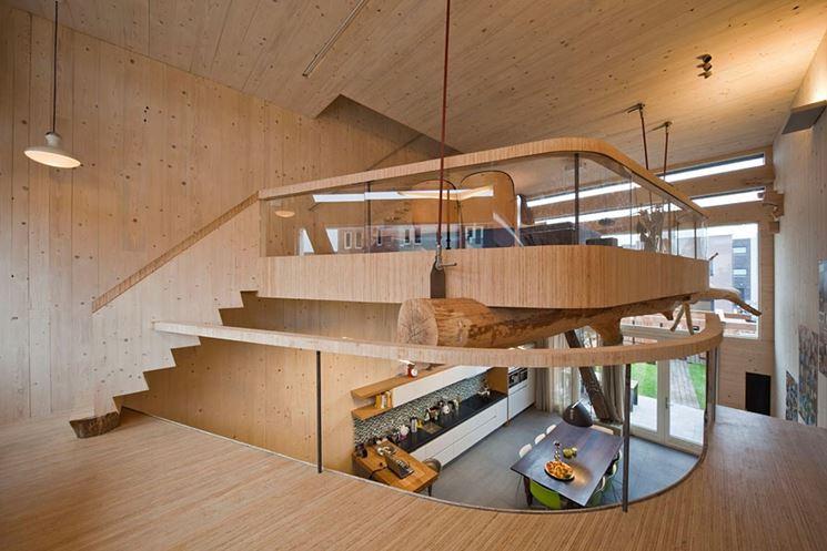 Soppalco in legno di design