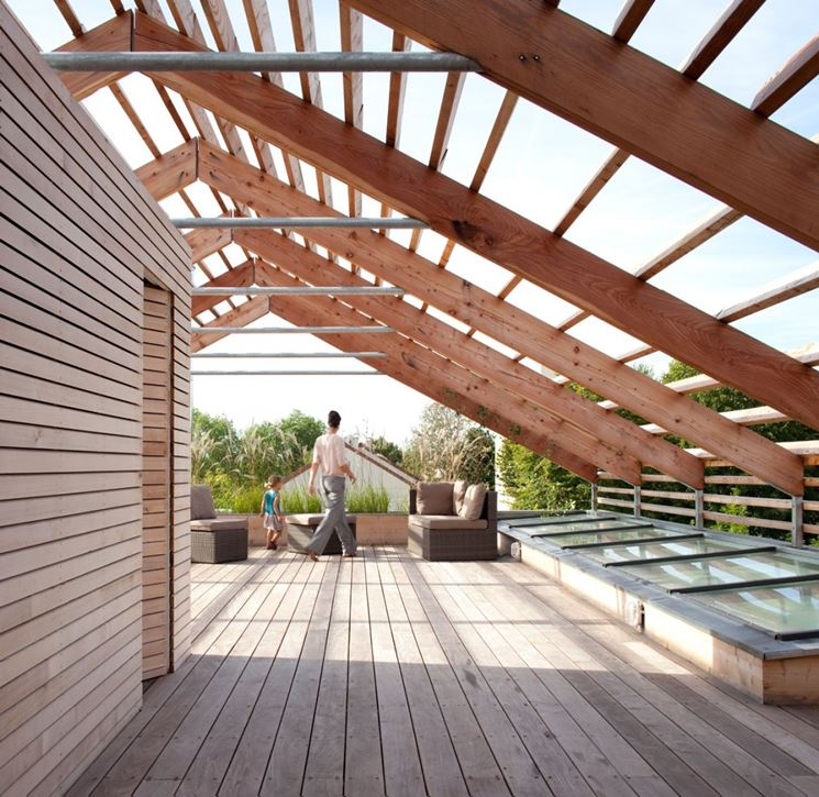 Coperture in legno per veranda