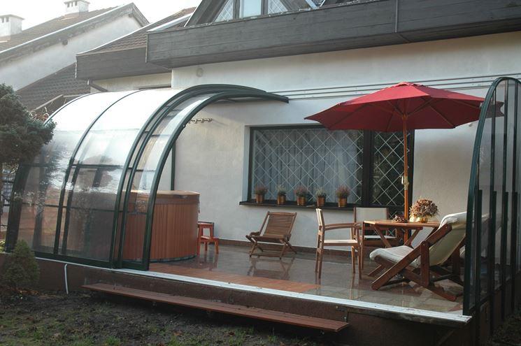 Coperture terrazzi coperture tetti tettoia terrazzo - Coperture mobili per terrazzi ...