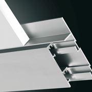 Sezione battiscopa alluminio