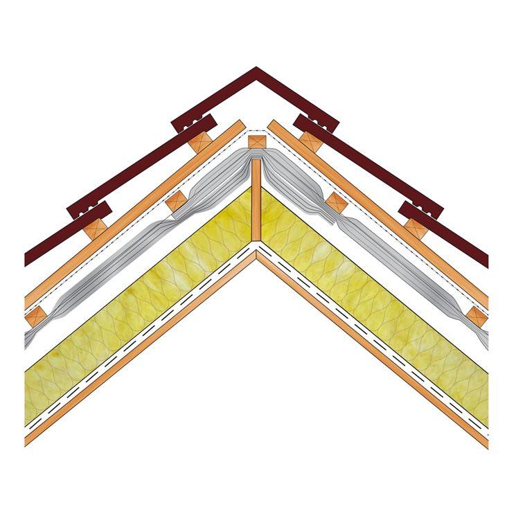 Sezione tetto con isolamento
