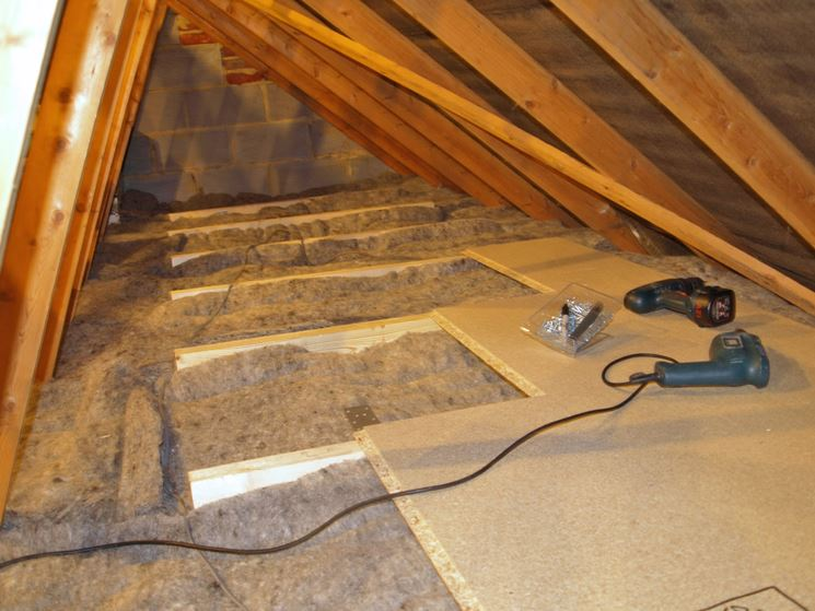 Isolamento tetto con lana e polistirene
