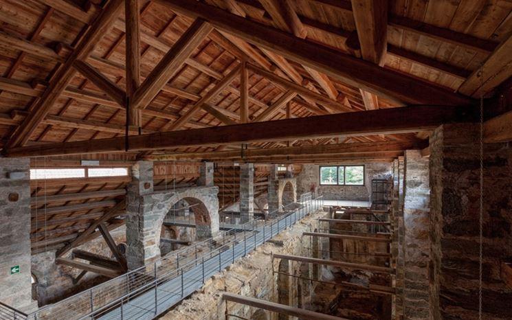 Tradizionale tetto in legno