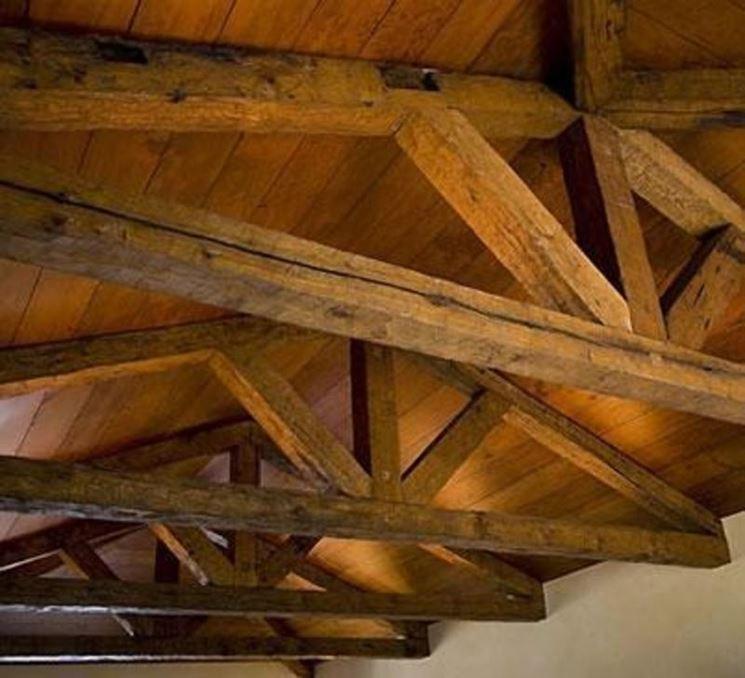 Travi di legno a vista