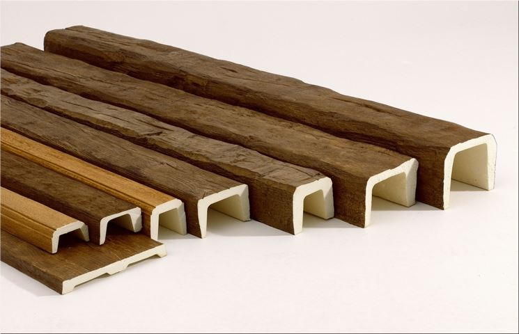 travi in poliuretano per decorare