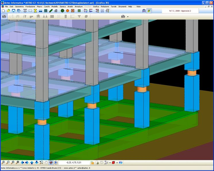 Progetto di una struttura con isolatori sismici