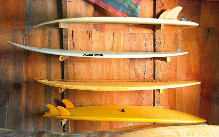 Parete divisoria attrezzata per il surf