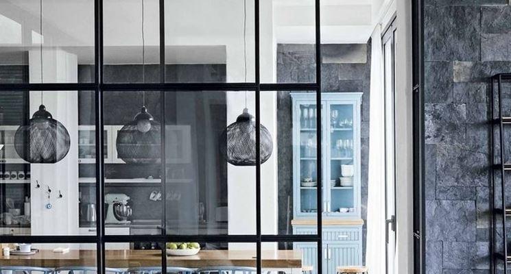 parete divisoria vetro. divisori interne in cristallo pareti ... - Mobili Divisori Cucina Soggiorno 2