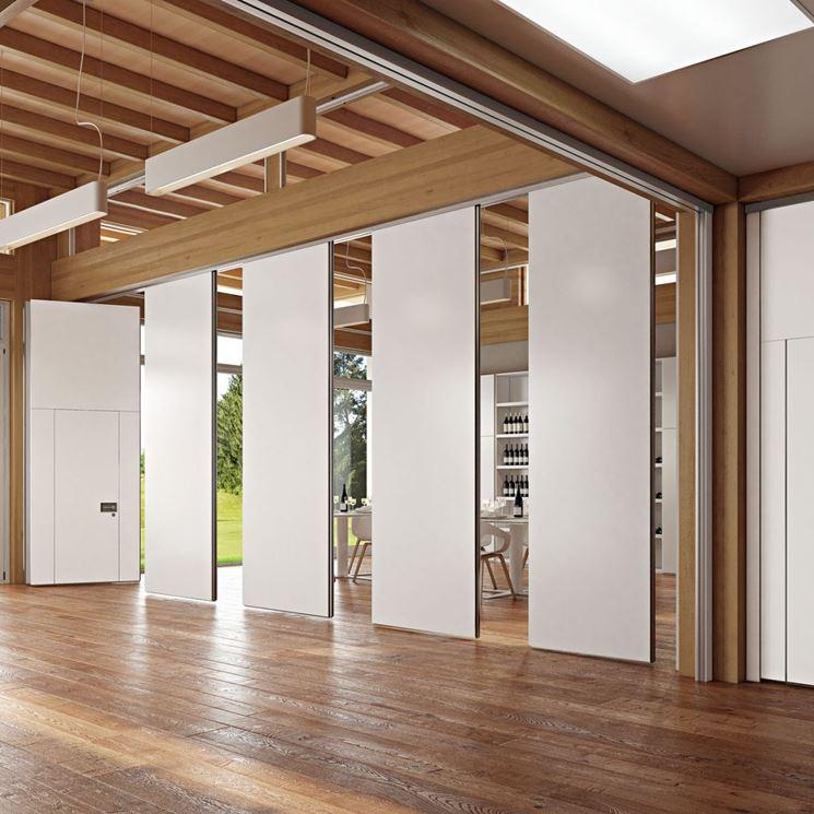Pareti divisorie in legno pareti divisorie tipi di for Divisori mobili per ufficio