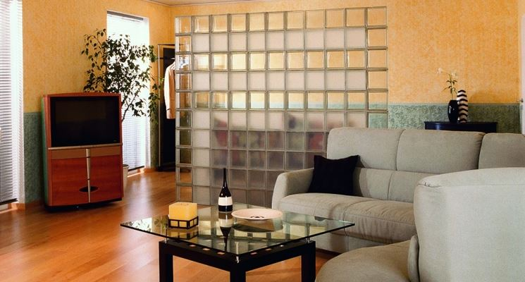 Pareti divisorie in vetrocemento pareti divisorie - Parete divisoria in legno per interni ...