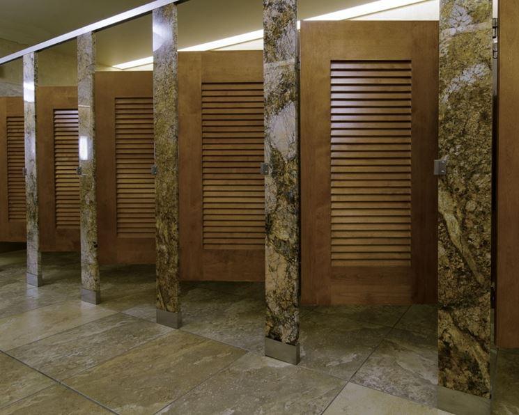 Pareti divisorie per bagni pareti divisorie tipi di for Louvered bathroom stall doors