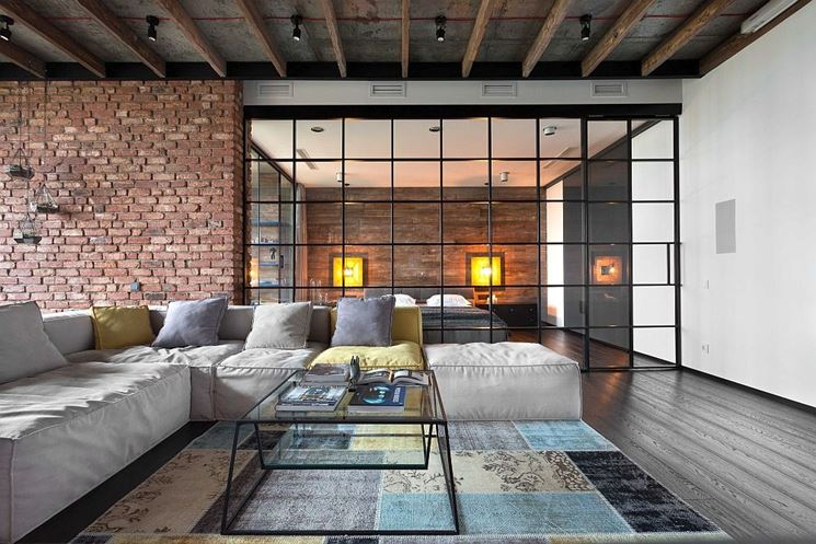 parete trasparente per interno