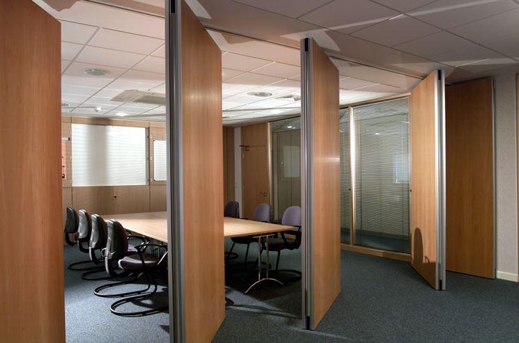 Parete divisoria da ufficio in legno