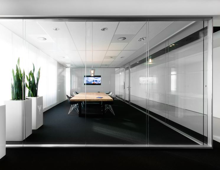 Pareti vetrate per interni   pareti divisorie   pareti vetrate per ...