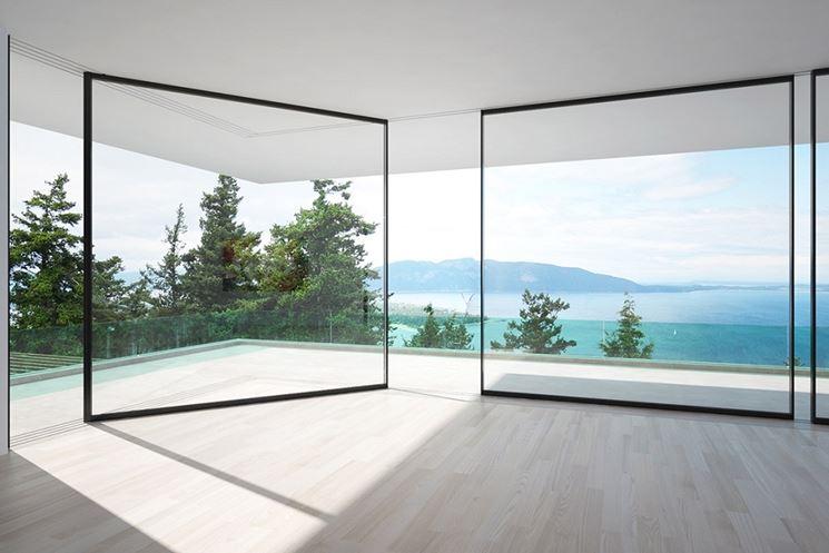 Esempio di pareti vetrate