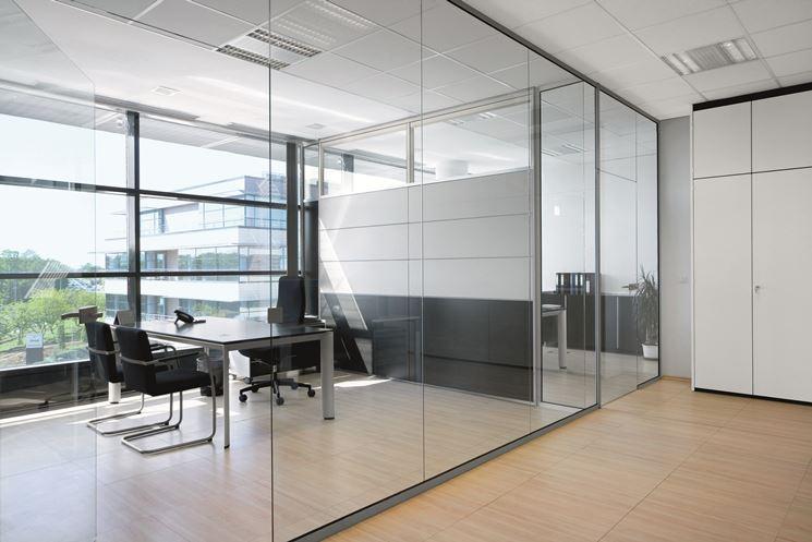 Pareti vetrate in ufficio