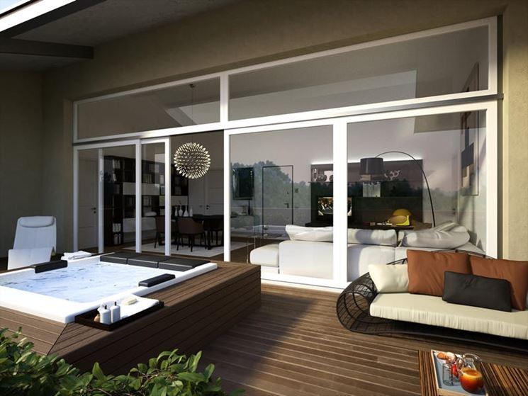 Esempio di vetrate scorrevoli