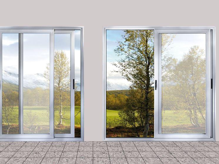 Vetrate Scorrevoli Pareti Divisorie Vetrate Scorrevoli: finestra grande scorrevole