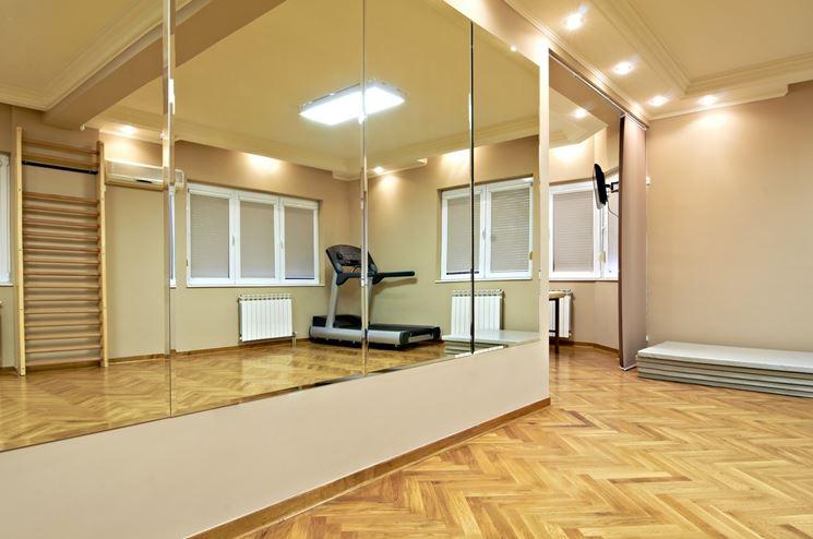 Esempio parete a specchio per palestra