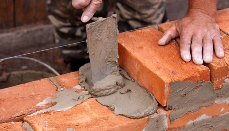 Esempio di costruzione parete in mattoni