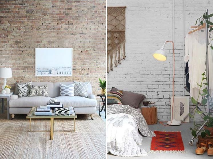 Parete mattoni pareti e muri come si realizzano pareti - Decorare i muri di casa ...