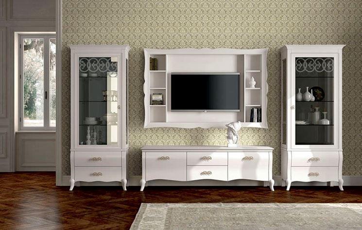 Pareti attrezzate soggiorno pareti e muri arredare con le pareti attrezzate soggiorno - Soprammobili classici ...