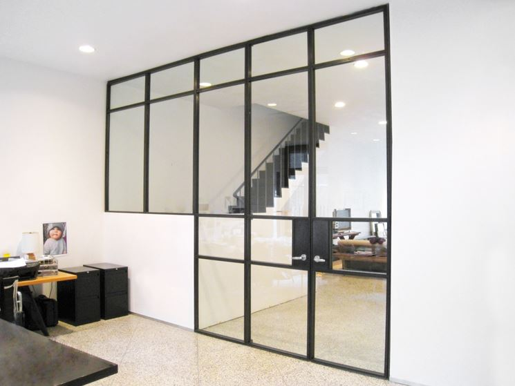 Pareti in vetro - Pareti e muri - Pareti in vetro per interni