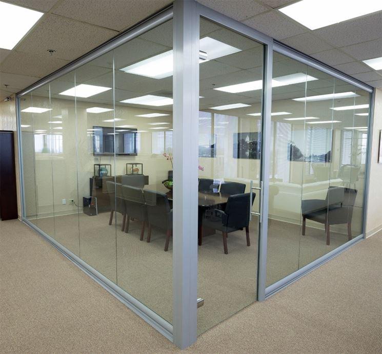 Pareti in vetro   pareti e muri   pareti in vetro per interni