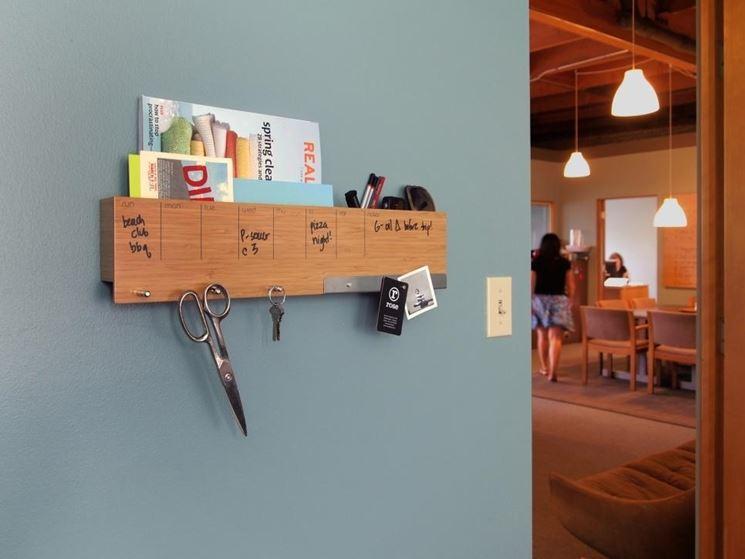 Portaoggetti parete cucina