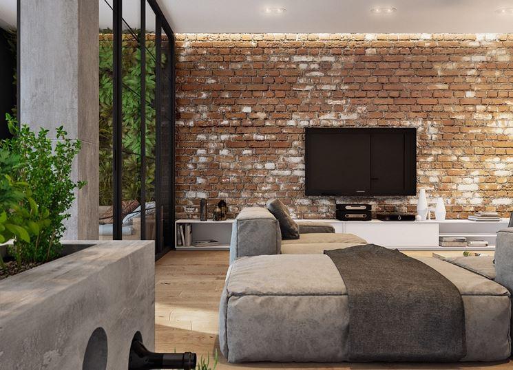 Rivestimento pareti in mattoni