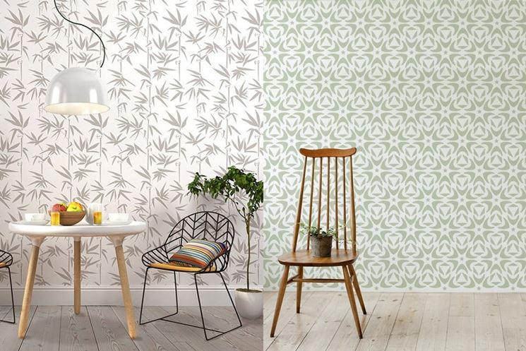Esempio di stencil per pareti