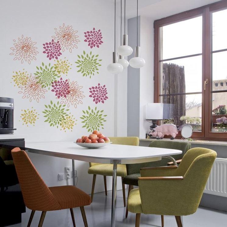 Stencil per pareti pareti e muri realizzate stencil su for Stencil per pareti