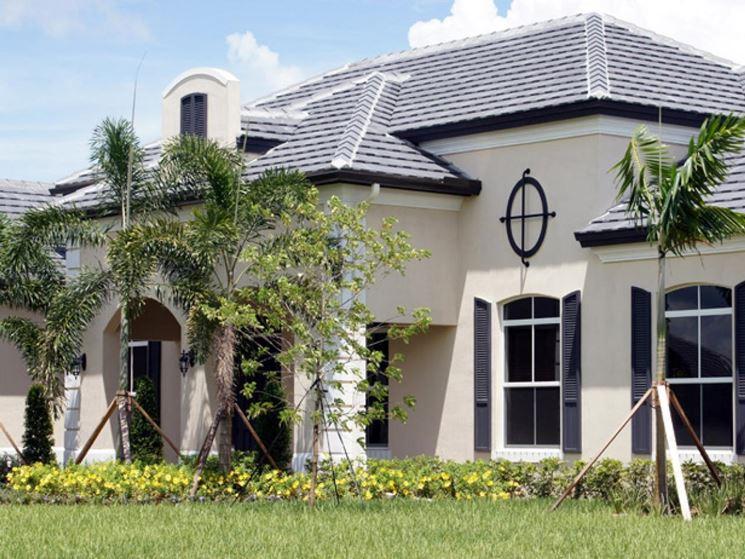 casa con pittura al quarzo