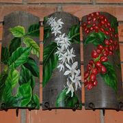 Tegola dipinta motivi floreali